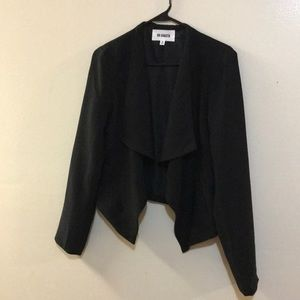 NWT BB Dakota Black Draped Cropped Blazer